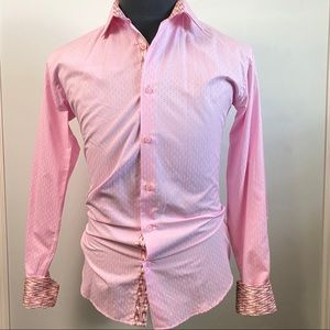 Envy mens pink button down long sleeve L